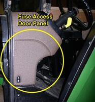 fuse access door panel john deere 55 60 series tractor interior john deere fuse box 4710 fuse access door panel john deere 55 60 series